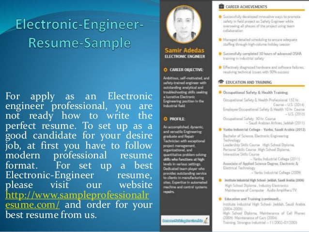 electronic engineer resume sample