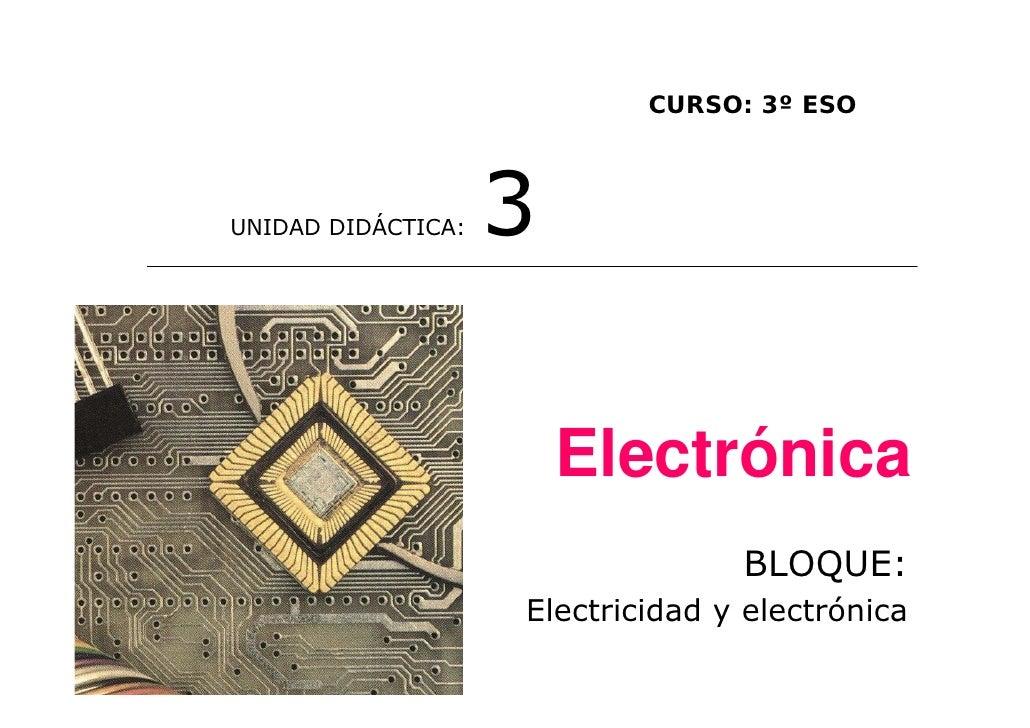 CURSO: 3º ESOUNIDAD DIDÁCTICA:   3                        Electrónica                                  BLOQUE:            ...