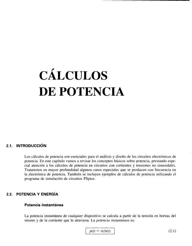 Electronica de potencia calculos