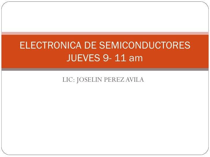 Electronica de semiconductores