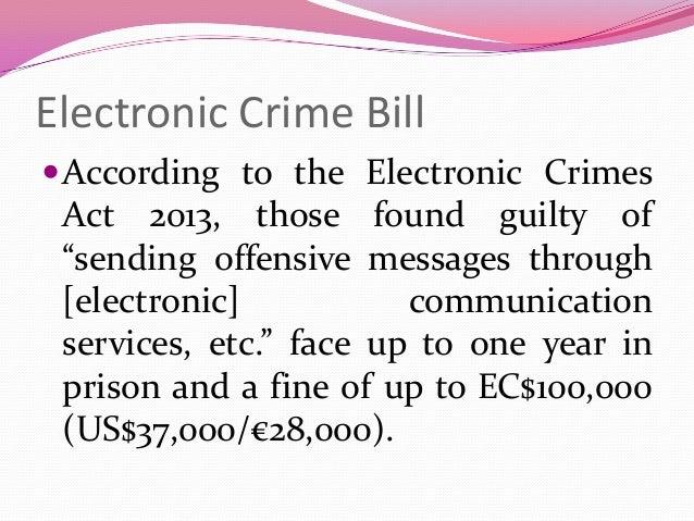 #Digital Caribbean: Electronic Crime Bill