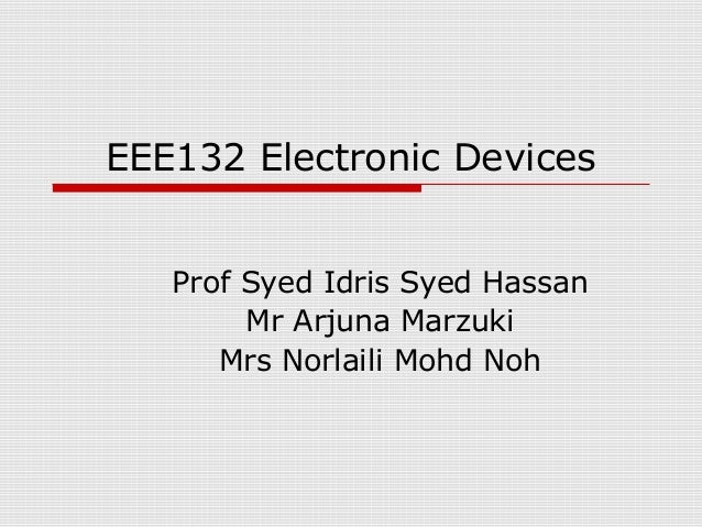 Electronic device lecture1