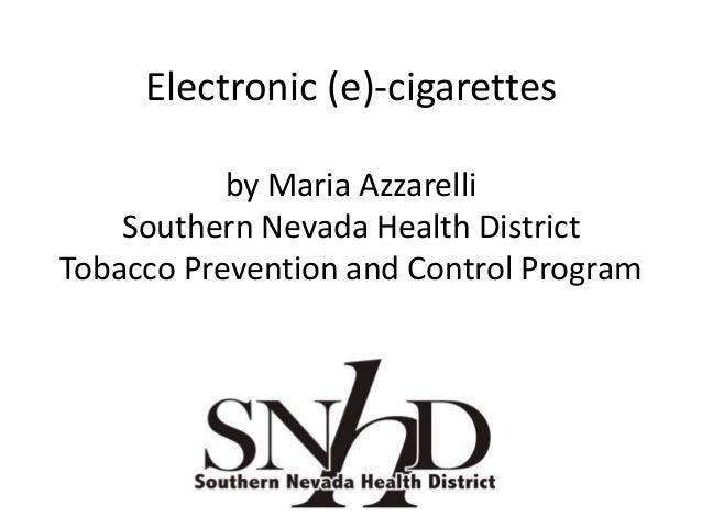 Electronic (e) cigarettes ntpc march 2014