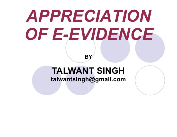 Appreciation of Electronic Evidence-PDF