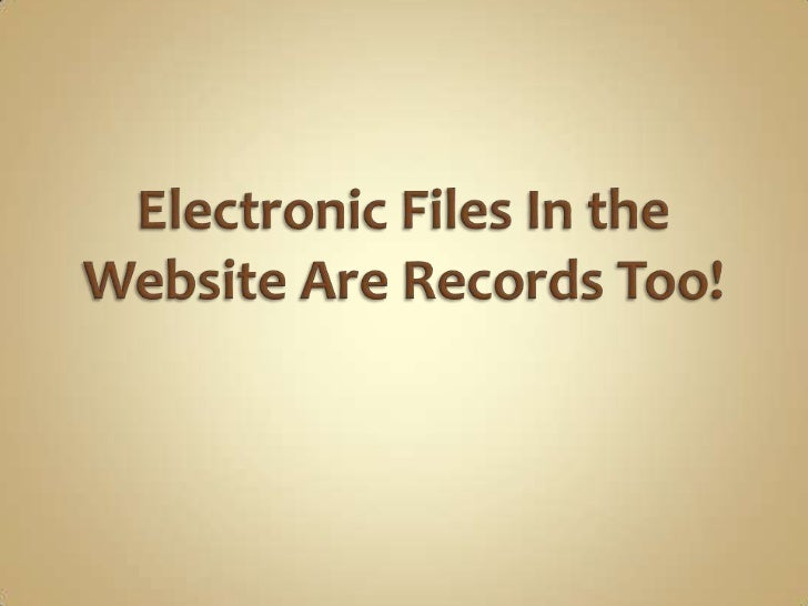 Electronic file in the web