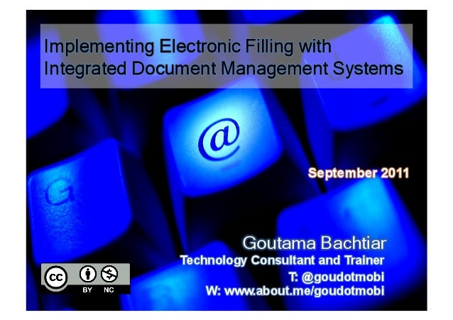Implementing Electronic Filling with Integrated Document Management Systems
