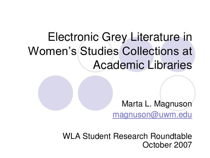 Electronic grey literature