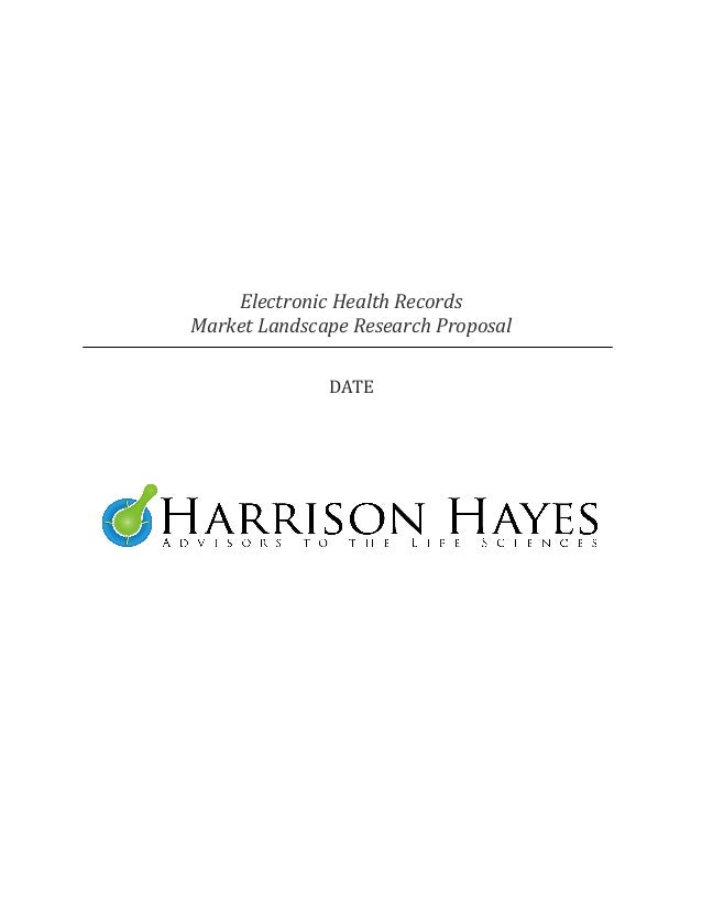 Electronic Health RecordsMarket Landscape Research Proposal              DATE