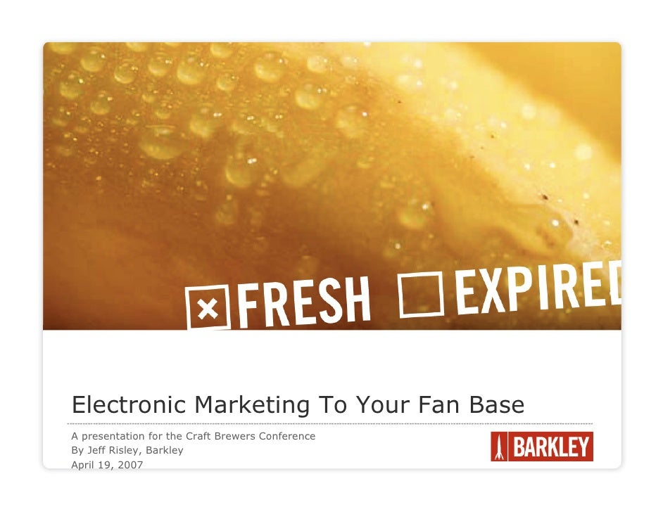 Electronic Marketing To Your Fan Base