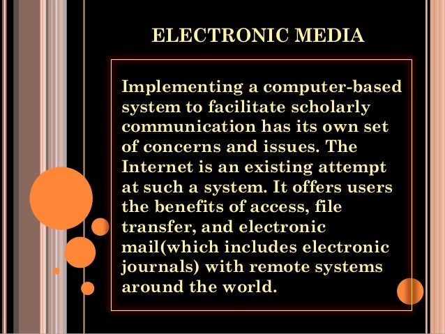 essay on electronic and print media