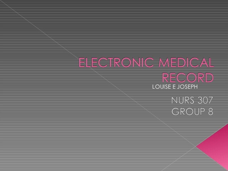 Electronic medical record p