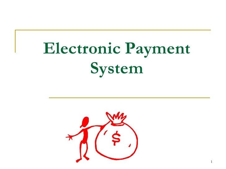 Electronic paymentsystem