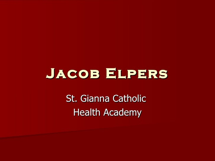 Jacob Elpers St. Gianna Catholic  Health Academy
