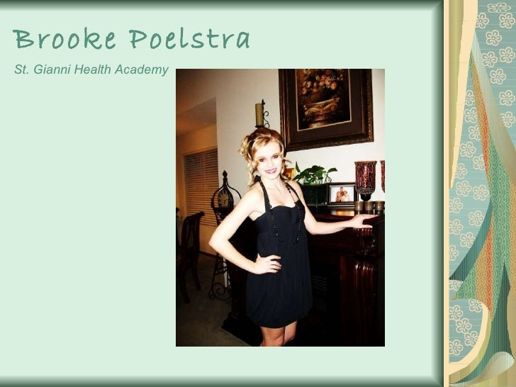 Brooke Poelstra   St. Gianni Health Academy