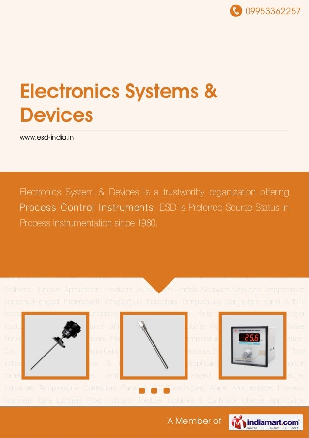09953362257A Member ofElectronics Systems &Deviceswww.esd-india.inTemperature Sensors Flanged Thermowell Temperature Indic...