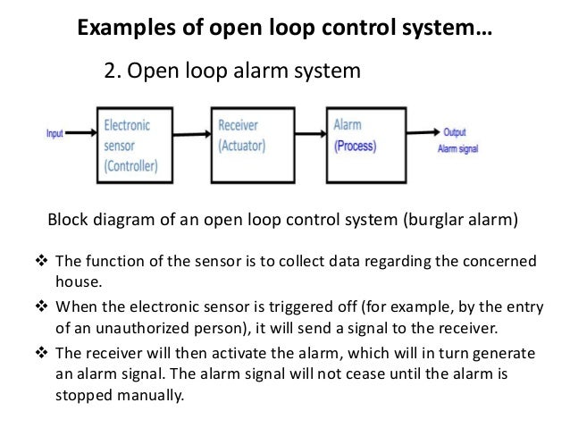 electronics control presentation   examples of open loop control system