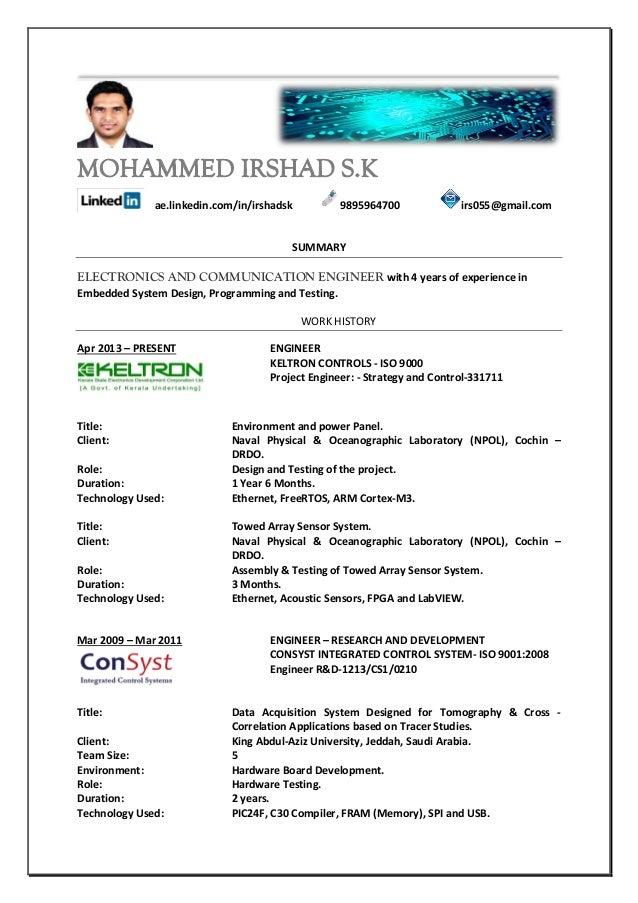 Electronic Engineer Resume,Electronic Engineer Resume Format ...