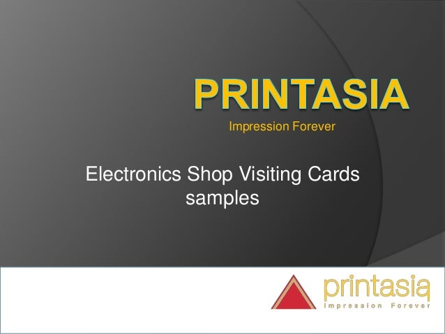 Impression Forever Electronics Shop Visiting Cards samples
