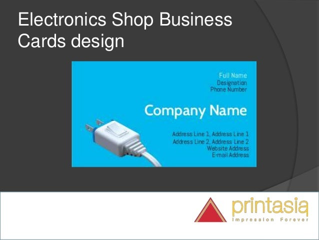 Electronics Shop Visiting Card Design