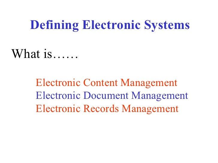 Electronic systemspresentation