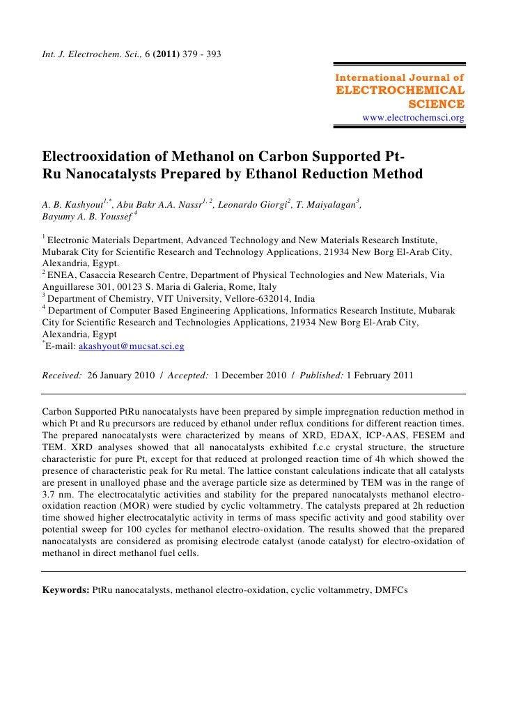 Int. J. Electrochem. Sci., 6 (2011) 379 - 393                                                                          Int...