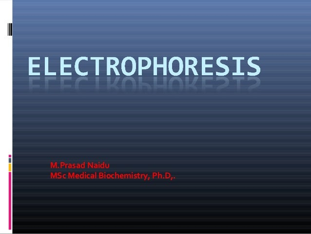 M.Prasad Naidu MSc Medical Biochemistry, Ph.D,.