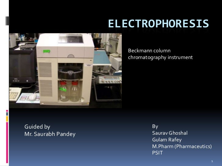 ELECTROPHORESIS                        Beckmann column                        chromatography instrumentGuided by          ...