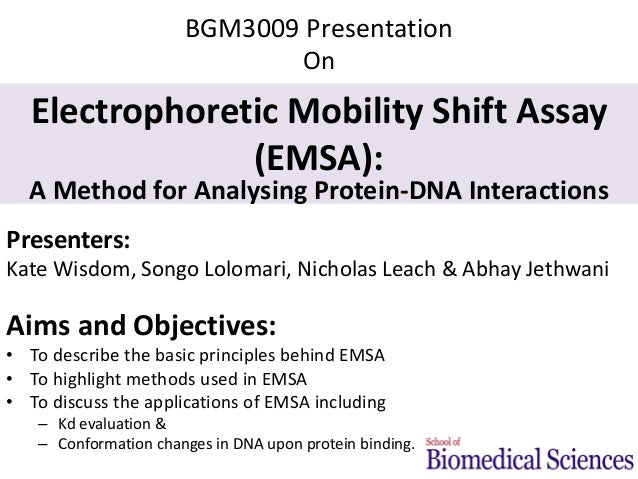 electrophoretic mobility shift assay advantages Concentration-enhanced mobility shift assay  electrophoretic mobility due to the negative-charged phos-  several advantages in this application compared to other.