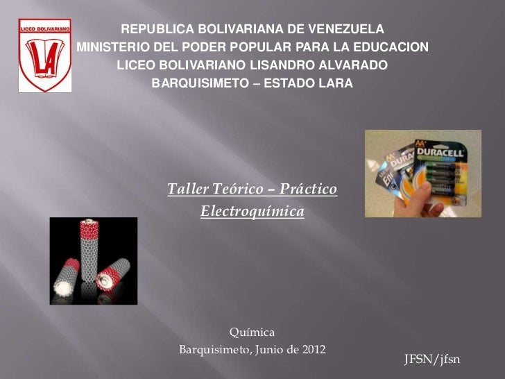 REPUBLICA BOLIVARIANA DE VENEZUELAMINISTERIO DEL PODER POPULAR PARA LA EDUCACION      LICEO BOLIVARIANO LISANDRO ALVARADO ...