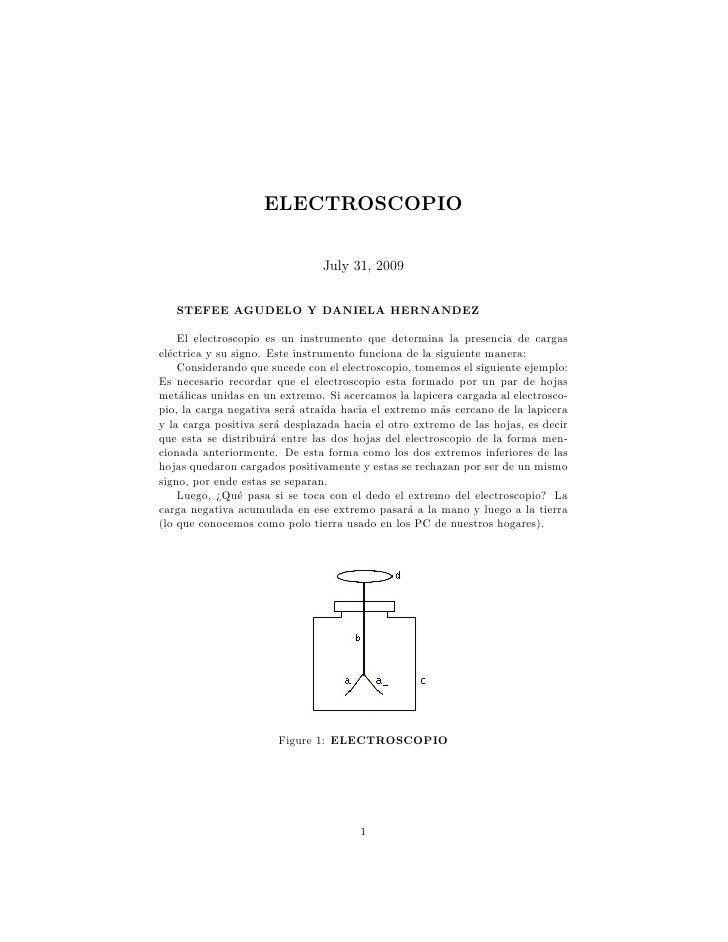 ELECTROSCOPIO                                  July 31, 2009      STEFEE AGUDELO Y DANIELA HERNANDEZ      El electroscopio...