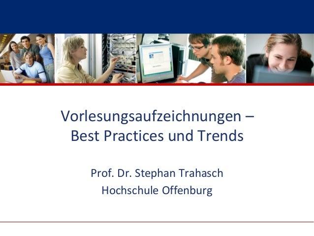 Hochschule Offenburg University of Applied Sciences                         Vorlesungsaufzeichnungen –                    ...
