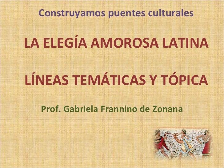 Elegía amorosa latina