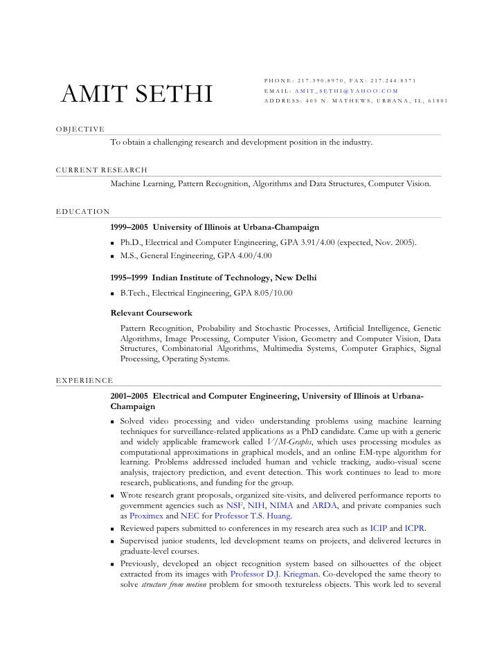 resume template elegant