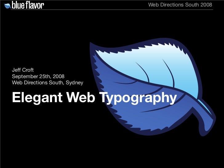 Elegant Web Typography