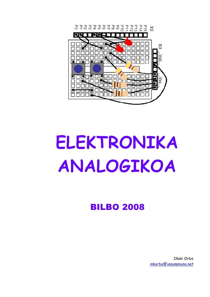 ELEKTRONIKA ANALOGIKOA     ELEKTRONIKA ANALOGIKOA     BILBO 2008                                    Iñaki Orbe            ...