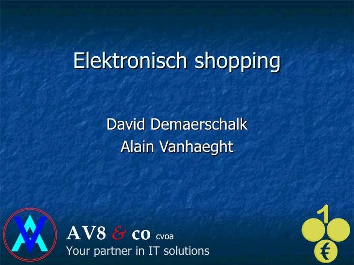 Elektronisch  shopping David Demaerschalk Alain Vanhaeght