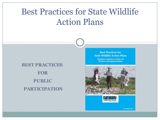 BEST PRACTICES FOR PUBLIC PARTICIPATION Best Practices for State Wildlife Action Plans