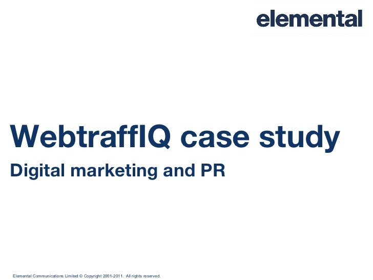 WebtraffIQ case study Digital marketing and PR