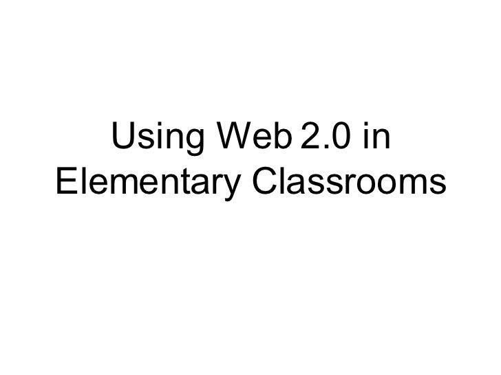 Elementary Web 2.0