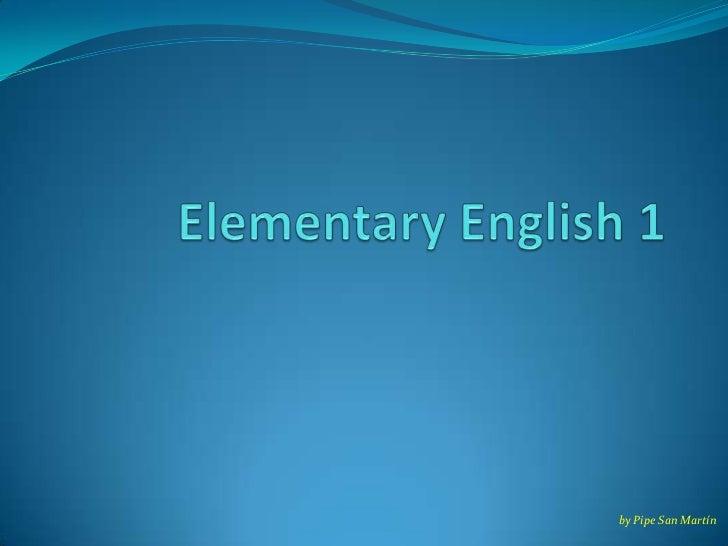 Elementary english 1