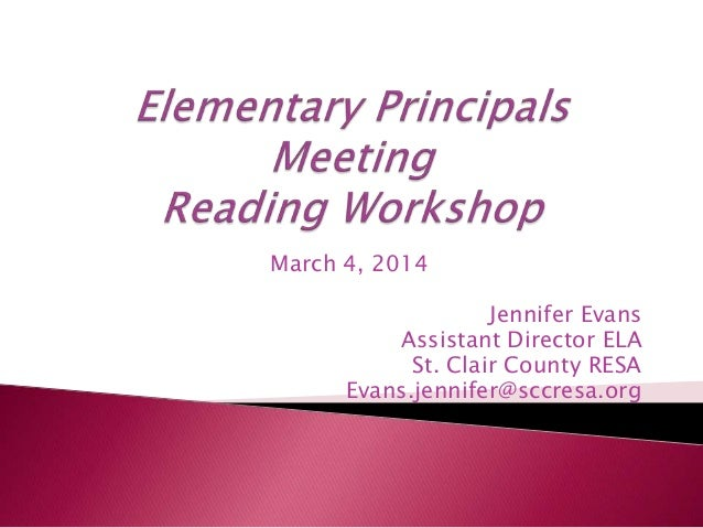 Elementary principals meeting 3 4-14
