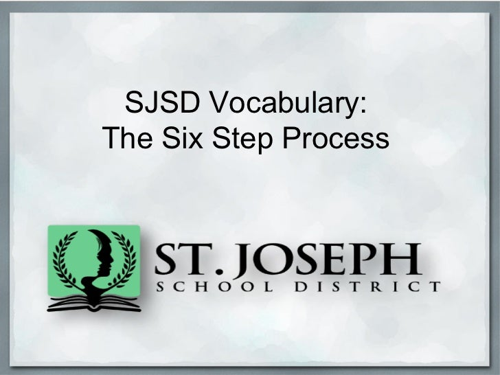 Elementary sjsd6stepvocabulary2012