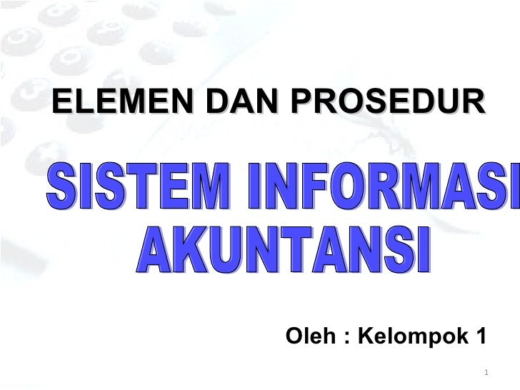 Element Dan Prosedur Sia