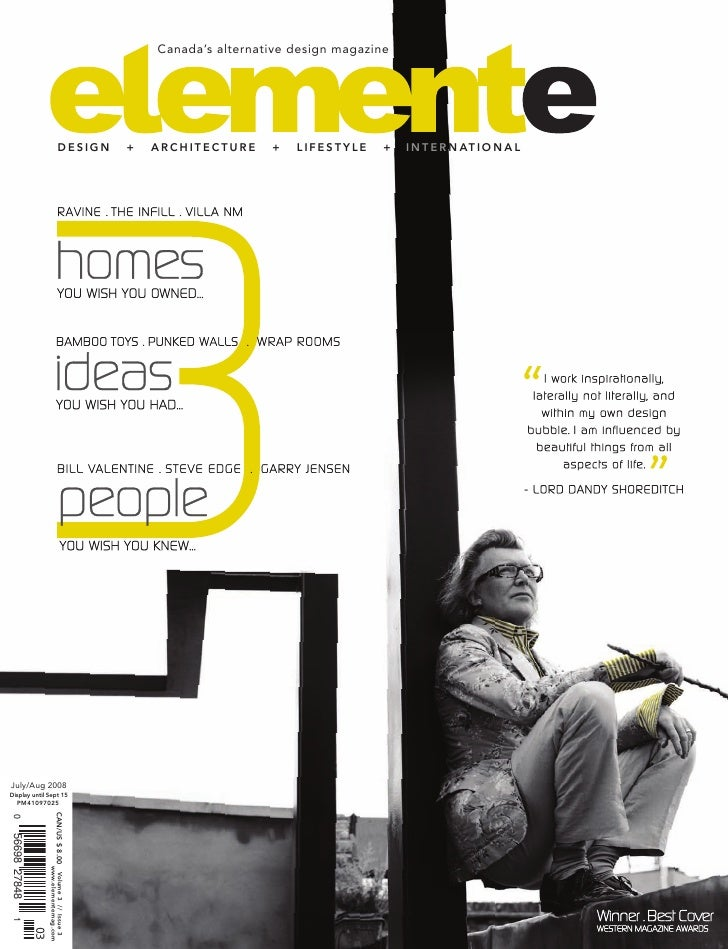 Canada's alternative design magazine                                         DESIGN             +   ARCHITECTURE     +   l...