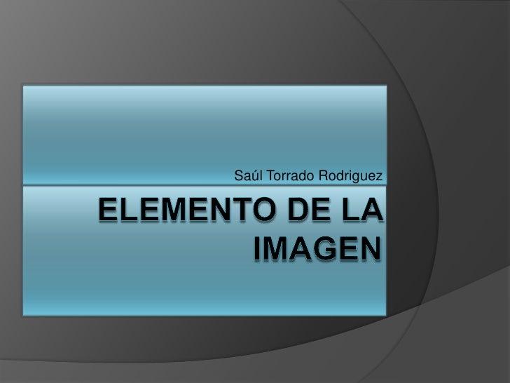 Elemento de la Imagen<br />Saúl Torrado Rodriguez<br />