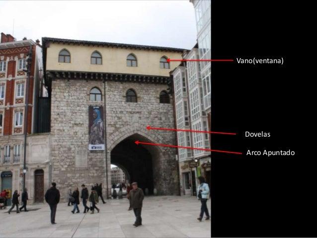 Vano(ventana)  Dovelas  Arco Apuntado