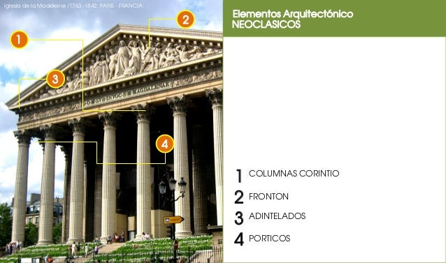 Elementos arquitectonico neoclasicismo for Inicios de la arquitectura