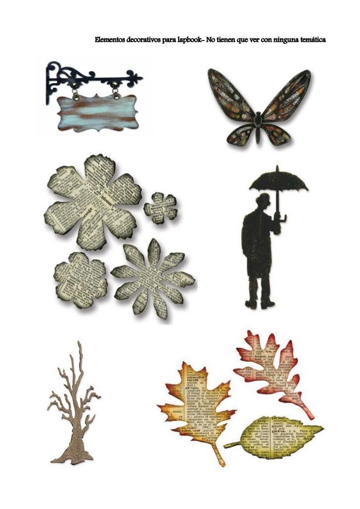 Elementos decorativos para lapbook- No tienen que ver con ninguna temática