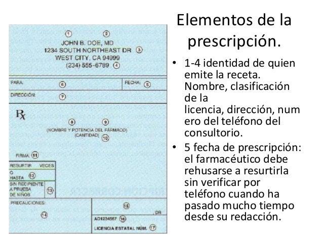 Elementos de la prescripción medica