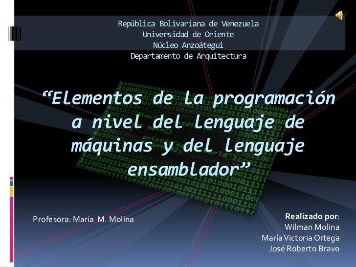 República Bolivariana de Venezuela                           Universidad de Oriente                              Núcleo An...